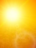 Zmierzch przy morzem, horyzont z lata słońcem Fotografia Royalty Free