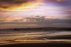Zmierzch przy morzem Wietnam Zdjęcie Stock