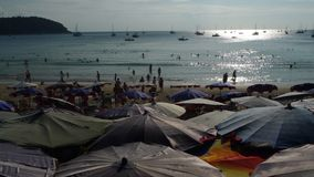Zmierzch przy Nai Harn plażą Phuket Tajlandia Obrazy Stock