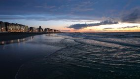 Zmierzch przy Północnego morza plażą zdjęcie wideo