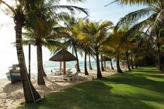 Zmierzch przy piękną plażą w Phu Quoc wyspie, Wietnam Obrazy Stock