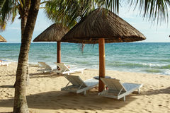 Zmierzch przy piękną plażą w Phu Quoc wyspie, Wietnam Zdjęcie Stock