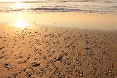 Zmierzch przy plażą Obraz Stock