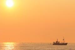 Zmierzch przy plażą Zdjęcia Royalty Free