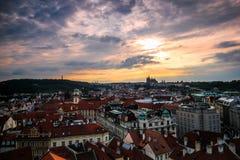 Zmierzch przy Praga Obraz Stock
