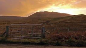Zmierzch przy Quiraing na wyspie Skye, Szkocja - zbiory