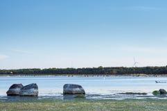 Zmierzch przy Saaremaa Zdjęcia Royalty Free