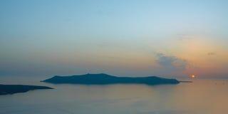 Zmierzch przy Santorini Obrazy Royalty Free