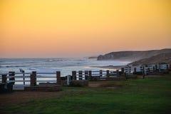 Zmierzch przy Strandfontein plażą Obrazy Royalty Free