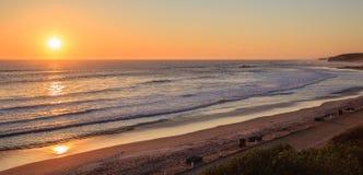 Zmierzch przy Strandfontein plażą Zdjęcia Stock