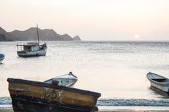 Zmierzch przy Taganga zatoką Zdjęcia Royalty Free
