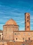 Zmierzch przy Volterra Włochy obraz royalty free