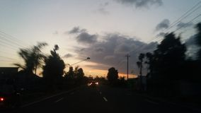 Zmierzch przy Yogyakarta Zdjęcie Royalty Free