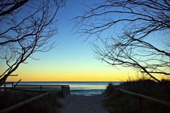 Zmierzch przy Złota Wybrzeżem, Australia Zdjęcia Royalty Free