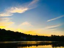 Zmierzch rzeka Fotografia Royalty Free