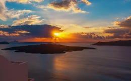 Zmierzch Santorini Obrazy Stock