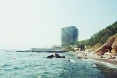Zmierzch scena w Odessa fotografia stock