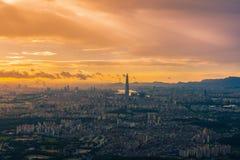 Zmierzch Seul miasta linia horyzontu najlepszy widok Południowy Korea Obrazy Stock