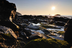 Zmierzch, St Agnes, Cornwall Zdjęcie Stock