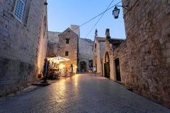 Zmierzch Stary grodzki Dubrovnik Zdjęcia Stock