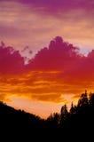 Zmierzch Szafirowe góry Montana Zdjęcie Royalty Free