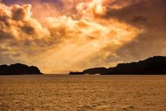 Zmierzch Szkocki Hebrides obrazy stock
