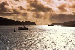 Zmierzch Szkocki Hebrides obrazy royalty free