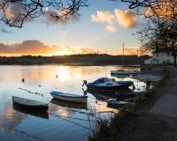 Zmierzch Truro Cornwall zdjęcie royalty free