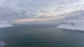 Zmierzch trutniem - Atlantycki ocean Zdjęcie Royalty Free