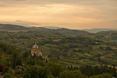 zmierzch Tuscan zdjęcie royalty free