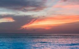 Zmierzch w Bali Zdjęcie Royalty Free