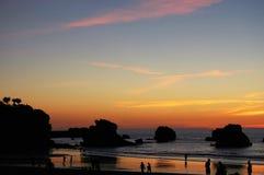 Zmierzch w Biarritz zdjęcie stock