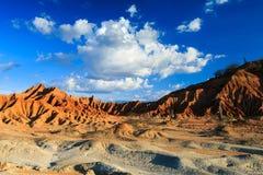Zmierzch w czerwieni pustyni Zdjęcia Royalty Free