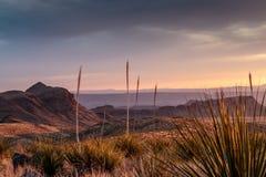 Zmierzch w Dużym chyłu parku narodowym Zdjęcie Royalty Free