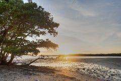 Zmierzch w dziesięć tysięcy wyspach zdjęcie stock