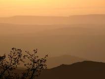 Zmierzch w górach Zdjęcia Stock