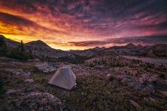 Zmierzch w górach Fotografia Stock