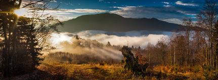 Zmierzch w górach Zdjęcie Royalty Free