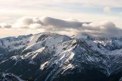 Zmierzch w górach Obraz Royalty Free