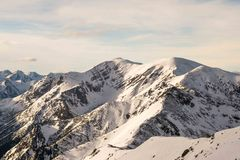 Zmierzch w górach Zdjęcia Royalty Free
