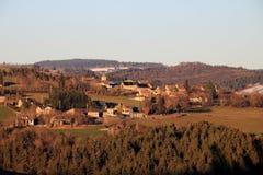 Zmierzch w Gevaudan regionie, Francja Zdjęcia Stock