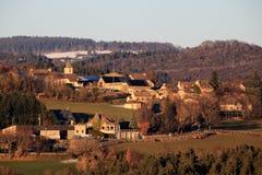 Zmierzch w Gevaudan regionie, Francja Zdjęcie Royalty Free