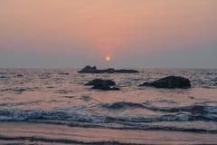 Zmierzch w Goa zdjęcie stock