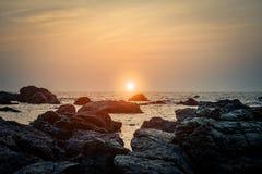 Zmierzch w Goa zdjęcia royalty free