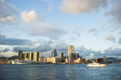 Zmierzch w Hong Kong obraz royalty free