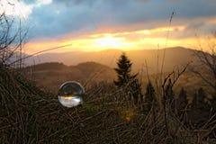 Zmierzch w kryształu bal Zdjęcie Royalty Free
