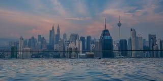 Zmierzch w Kuala Lumpur fotografia royalty free