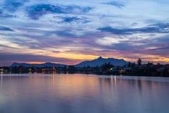 Zmierzch w Kuching, Borneo fotografia royalty free