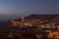 Zmierzch w małej wiosce w Jordania fotografia stock