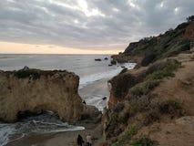 Zmierzch w Malibu fotografia stock